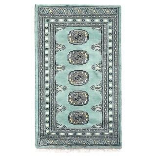 Herat Oriental Pakistani Hand-knotted Bokhara Wool Rug (1'11 x 3'2)