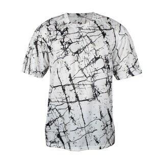Shock Boys' White Polyester T-shirt
