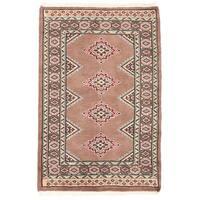 Herat Oriental Pakistani Hand-knotted Bokhara Wool Rug - 2' x 3'1