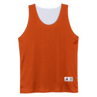 Youth Orange, White Polyester Reversible Tank Top