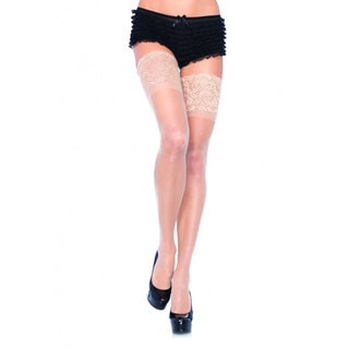 Sheer Thigh High With Lace Top