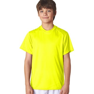 B-Core Boys' Performance Safety Yellow Polyester T-shirt
