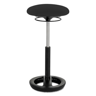 Safco Twixt Black Steel Ergonomic Extended Height Stool