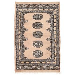 Herat Oriental Pakistani Hand-knotted Bokhara Wool Rug (2'1 x 3'2)