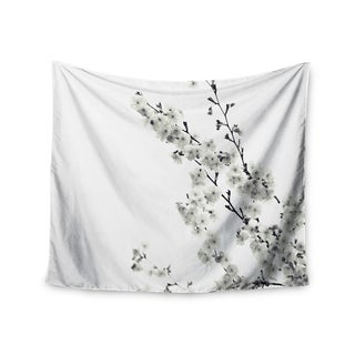Kess InHouse Monika Strigel 'Cherry Sakura White' 51x60-inch Wall Tapestry