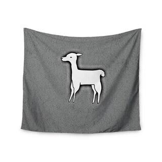Kess InHouse Monika Strigel 'Llama One' 51x60-inch Wall Tapestry