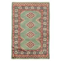 Herat Oriental Pakistani Hand-knotted Bokhara Wool Rug (2' x 3') - 2' x 3'
