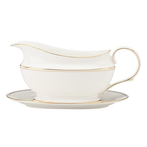 Lenox Federal Gold Sauce Boat and Stand
