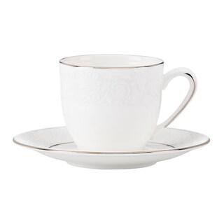 Lenox Artemis White/Goldtone China Espresso Cup and Saucer
