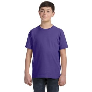 Boys' Purple Fine Jersey T-shirt
