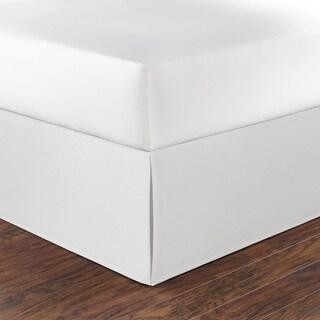 Nautica White Cotton 15-inch Drop Bedskirt