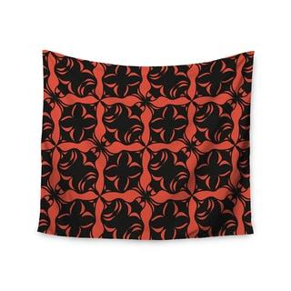 Kess InHouse Miranda Mol 'Oval Orange Love' 51x60-inch Wall Tapestry