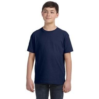 Boys' Navy Blue Fine Jersey T-shirt