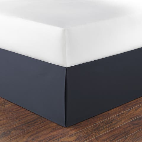 Nautica Navy Cotton 15-inch Drop Bedskirt