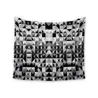 Kess InHouse Nika Martinez 'Geometrie Black & White' 51x60-inch Wall Tapestry