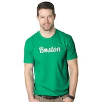 Men's Boston Lucky Clover St. Patrick's Day Green T-shirt