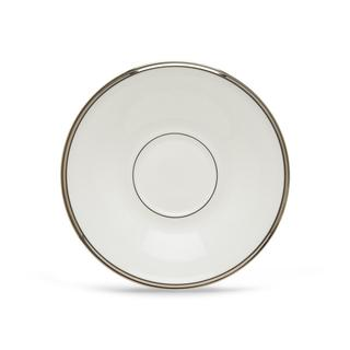 Lenox Solitaire White and Silver China Tea Saucer