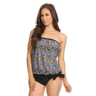 Dippin' Daisy's Women's Multicolored Native-patterned Bandeau Blouson Tie Tankini