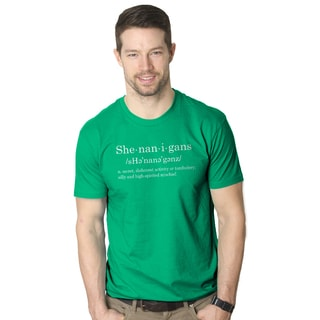 Men's Shenanigans Definition Funny St. Patrick's Day Green T-shirt