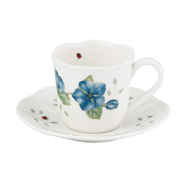 Shop Lenox Butterfly Meadow Espresso Cup And Saucer Free