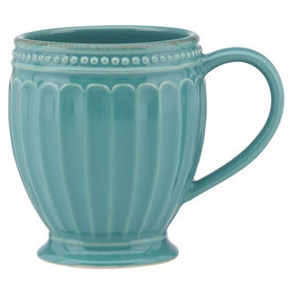 Lenox French Perle Groove Bluebell Mug