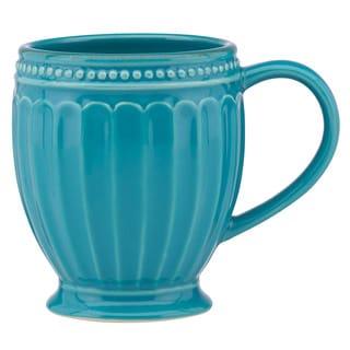 Lenox French Perle Groove Peacock Mug