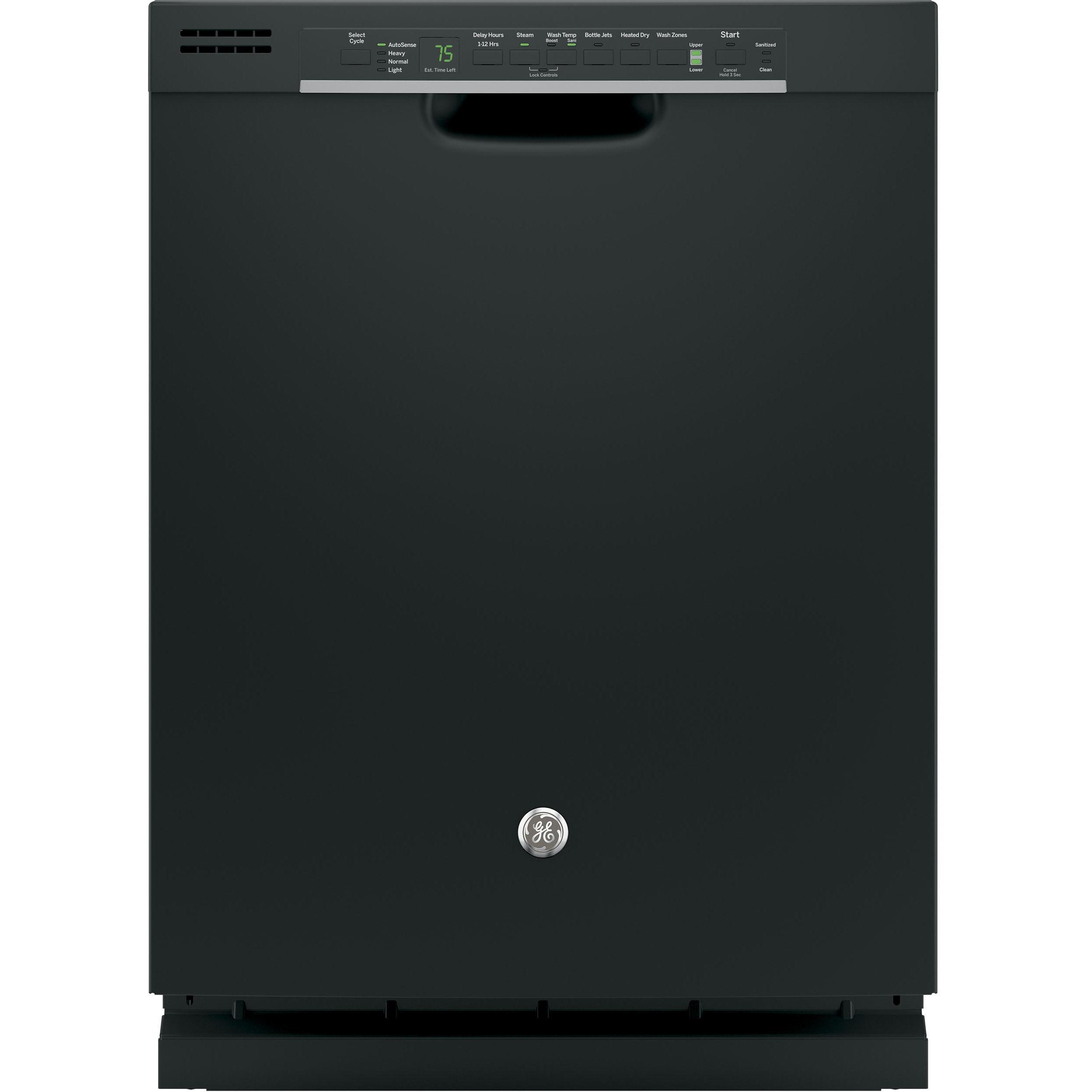 GE Black Full-console Dishwasher (Black) (Plastic)