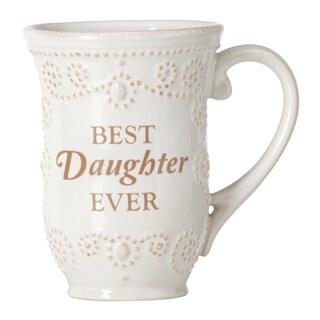 Lenox French Perle White 'Daughter' Sentiment Mug