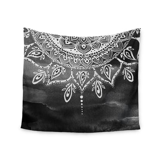 Kess InHouse Li Zamperini 'Black & White Mandala' Gray Abstract51x60-inch Wall Tapestry