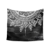 Kess InHouse Li Zamperini 'Black & White Mandala' Gray Abstract51x60-inch Wall Tapestry