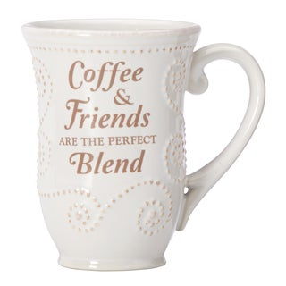 Lenox French Perle White 'Coffee with Friends' Mug