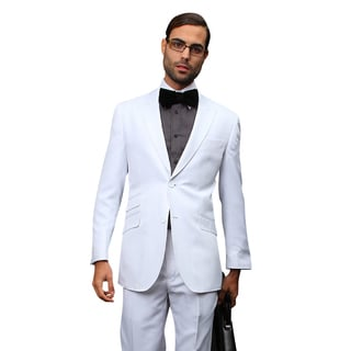 Men's White Wool Statement Suit