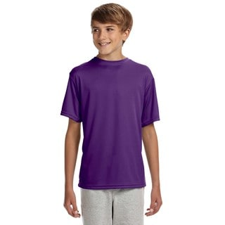 Cooling Youth Performance Purple Polyester T-Shirt