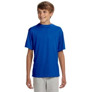 Cooling Youth Royal Blue Performance T-shirt
