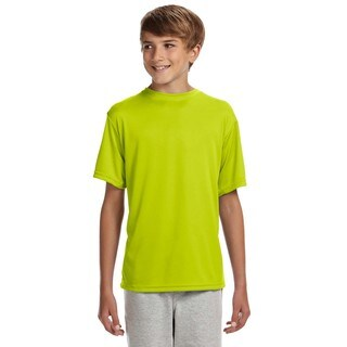 Cooling Boys' Safety Yellow Polyester Performance T-shirt