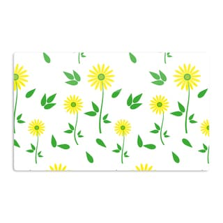 KESS InHouse Louise 'Daisy' Yellow Green Artistic Aluminum Magnet