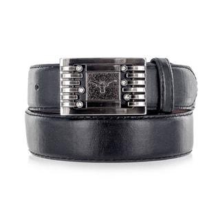 Faddism Unisex Black Leather Belt