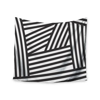 Kess InHouse Louise Machado 'Black Stripes' 51x60-inch Wall Tapestry