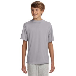 Youth Grey Polyester Performance T-shirt