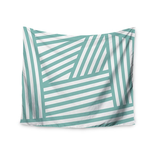 Kess InHouse Louise Machado 'Aqua Stripes' 51x60-inch Wall Tapestry