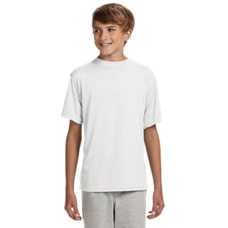 Cooling Boys' White Polyester Performance T-shirt