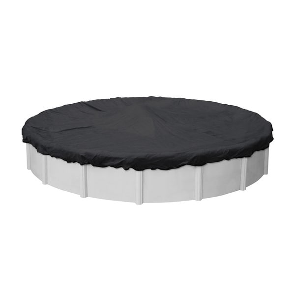 Pool Mate Heavy-duty Black Mesh Winter Cover for Round Above Ground Swimming Pools