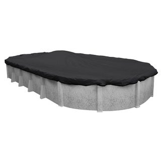 Pool Mate Black Mesh Heavy-duty Winter Cover for Oval Above-ground Swimming Pools