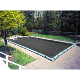 Pool Mate Black Polyethylene Mesh 12-year Heavy-duty Winter Cover for In-ground Swimming Pools