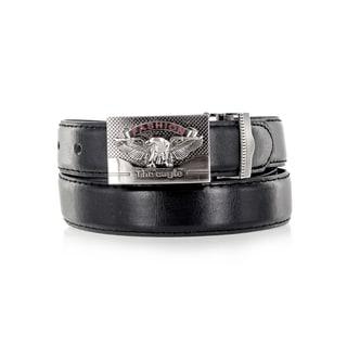 Faddism Unisex The Eagle Black Genuine Leather Belt