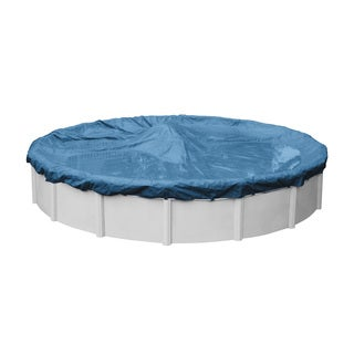 Classic Blue Polyethylene 5-Year Winter Cover for Above-ground Swimming Pools (More options available)