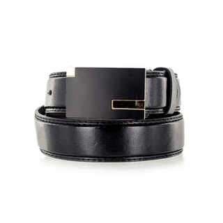 Faddism Unisex Monsoon Black Genuine Leather Belt