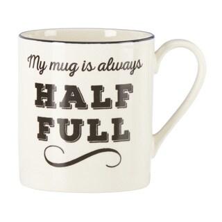 """Lenox Around the Table """"Always Half Full"""" Mug"""