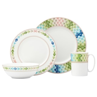 Lenox Entertain 365 Sculpture Green/Blue Round 4-piece Place Setting