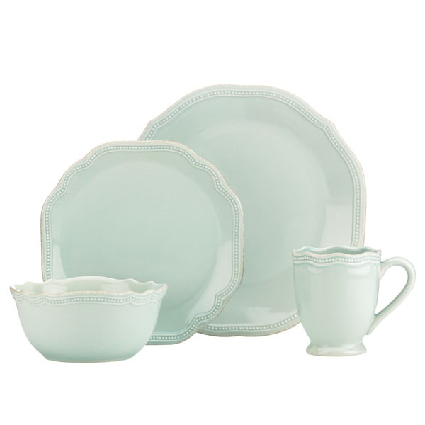 Lenox French Perle Bead Ice Blue 4-Piece Place Setting. Opens flyout.